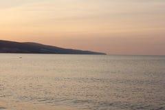 在水的黎明 免版税库存照片