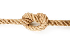 在绳索的结 库存图片