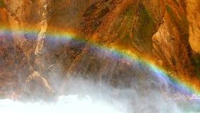 在黄石的彩虹降低秋天 股票视频