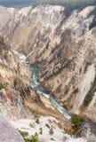 在黄石的Gand峡谷 图库摄影