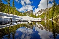 在洛矶山国家公园的Tyndall小河 免版税库存图片