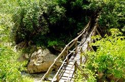 在洱码河的木桥 库存照片