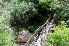 在洱码河的木桥 免版税库存图片