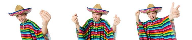在滑稽的概念的西班牙佩带的阔边帽 库存图片