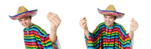 在滑稽的概念的西班牙佩带的阔边帽 免版税库存照片