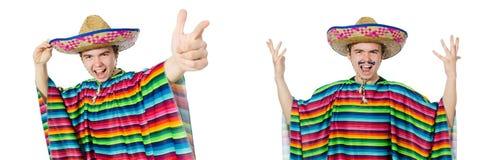 在滑稽的概念的西班牙佩带的阔边帽 免版税图库摄影