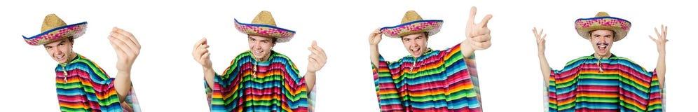 在滑稽的概念的西班牙佩带的阔边帽 免版税库存图片