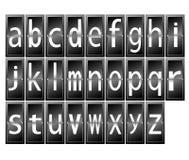 在终端的字母表上写字 库存图片