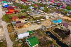 在建筑上的鸟瞰图在Borovskiy 俄国 库存照片