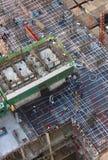 在建筑过程的大厦 免版税库存照片