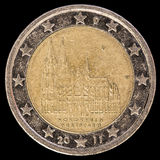 在2011年纪念两欧元硬币由德国发布了描述 免版税库存照片
