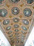 在贝纳国民宫殿的古老天鹅天花板 免版税库存图片