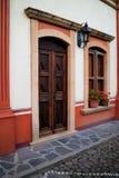 在贝纳de贝尔纳尔的门面 免版税库存照片