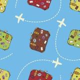 在贴纸手提箱旅行向量白色的8 eps例证 Internetional飞行 库存照片