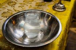在水罐的水 免版税库存图片