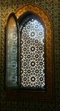 在默罕默德阿里宫殿-开罗,埃及的古老窗口 免版税库存照片