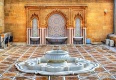 在默罕默德陵墓的喷泉v在拉巴特,摩洛哥 图库摄影
