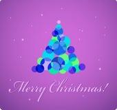 在紫罗兰的圣诞卡 库存照片