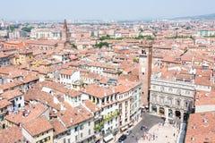 在维罗纳的鸟瞰图 免版税库存图片