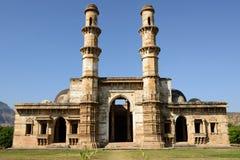 在巴罗达,印度附近的Champaner - Pavagadh考古学公园 库存照片