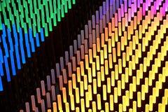 在黑背景的五颜六色的荧光灯氖 免版税图库摄影