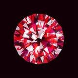 在黑背景的传染媒介红宝石 免版税库存照片