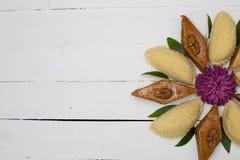 在黑背景的传统Novruz曲奇饼 库存照片