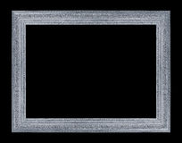 在黑背景的古色古香的框架 免版税库存图片