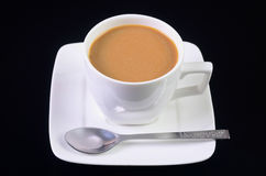 在黑背景的咖啡。 免版税库存图片