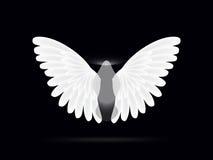 在黑背景的天使 免版税库存照片