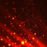 在黑背景的抽象火火焰 库存例证