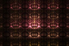 在黑背景的抽象详细的几何装饰品 免版税库存照片