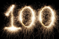 发光的100 免版税图库摄影