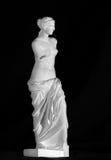 在黑背景的米罗的维纳斯雕象 复制 库存照片