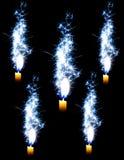 在黑背景的蜡烛 库存图片