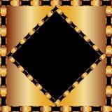 在黑背景的金黄框架 免版税库存图片