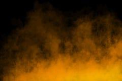 在黑背景的雾或烟文本死亡 免版税库存图片
