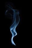 在黑背景的香火烟 库存照片