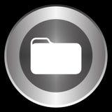 在黑背景隔绝的圈子的文件夹象 免版税库存图片