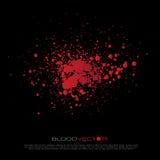 在黑背景隔绝的抽象血液泼溅物, des 皇族释放例证
