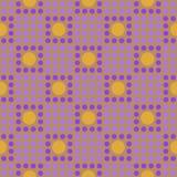 在细胞的无缝的几何样式 免版税库存图片