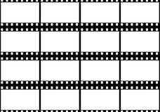 在黑胶卷画面的空白白色 免版税库存图片