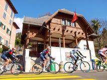 在2015年自行车赛卢加诺格兰披治  免版税库存照片