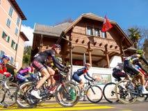 在2015年自行车赛卢加诺格兰披治  免版税库存图片