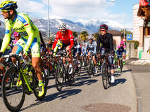 在2015年自行车赛卢加诺格兰披治  库存图片