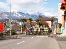 在2015年自行车赛卢加诺格兰披治  免版税图库摄影