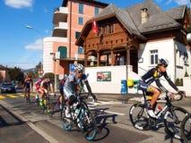 在2015年自行车赛卢加诺格兰披治  图库摄影