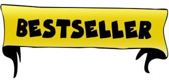 在黄色丝带例证的畅销书 库存照片