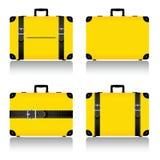 在黄色例证设置的旅行手提箱 免版税图库摄影