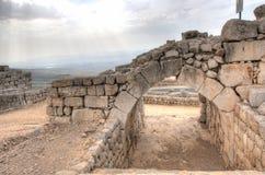 猎人城堡和以色列风景 免版税库存照片